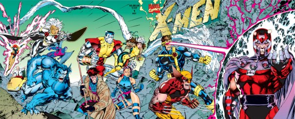 """Capa tripla de """"X-Men 01"""" por Claremont e Lee: recorde imbatível de vendas."""