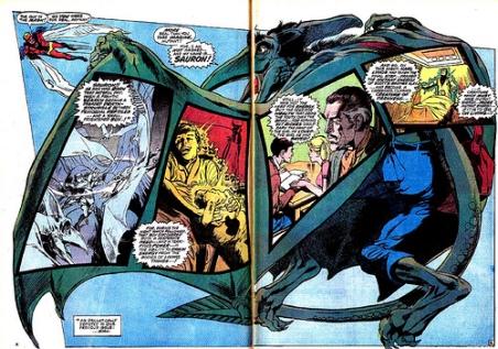 A bela arte de Neal Adams: um confronto com Sauron e sua origem ao mesmo tempo.