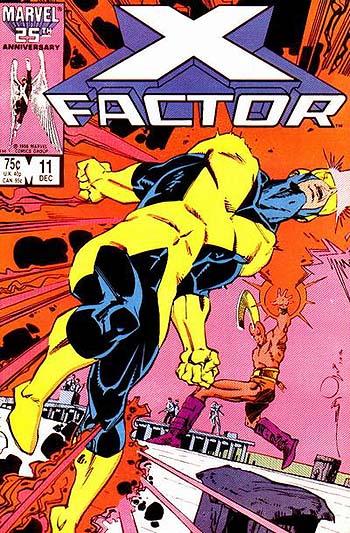 xfactor 11 cover by walt simonson (cyclops)
