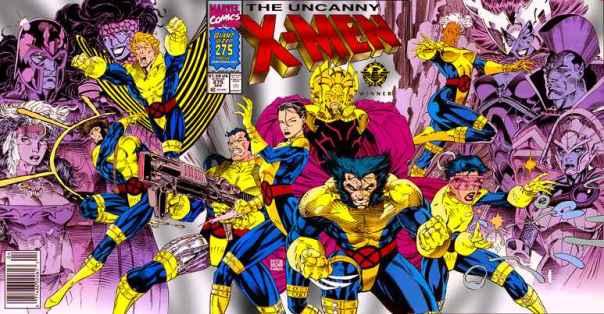 """Capa de """"Uncanny X-Men 275"""", marco da fase de Claremont e Lee: Xavier volta do espaço e a equipe mutante se reagrupa."""
