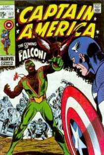A estreia do Falcão, em 1969. Mais espaço para os negros nos quadrinhos. Arte de Gene Colan.