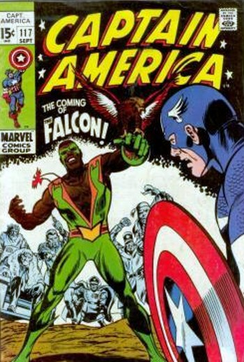 cap117 (with falcon) by gene colan