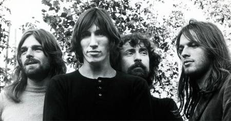 O Pink Floyd no auge do sucesso nos anos 1970.