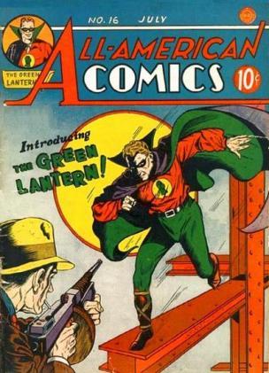 O Lanterna Verde original de 1940, cocriado por Bill Finger.