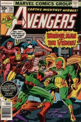 Magnum contra Visão em capa desenhada por Jack Kirby.