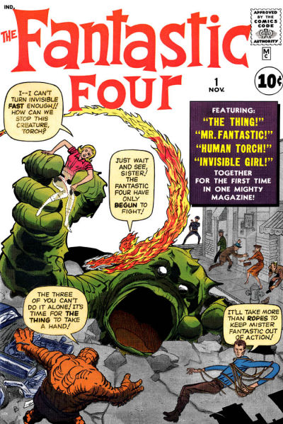 fantastic four 01 cover by jack kirby 1961