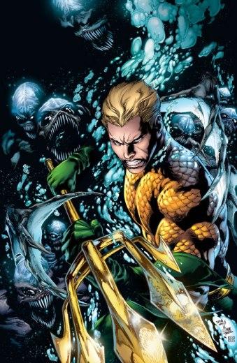 Aquaman na arte de  Ivan Reis e Joe Prado.