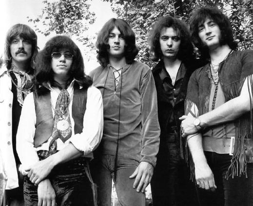 A formação clássica do Deep Purple, nos anos 1970.