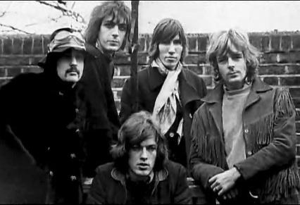 O Pink Floyd como um quinteto (com David Gilmour abaixo).