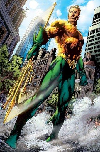 O Aquaman da atualidade, na arte do brasileiro Ivan Reis.