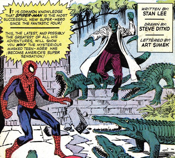 spider-man and the lizard by steve ditko