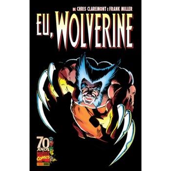A revista que será base para o filme: melhor história de Wolverine. Arte de Frank Miller.