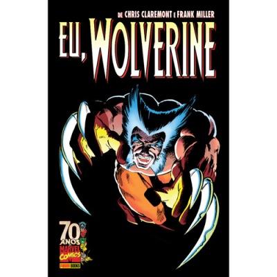 Capa brasileira para Eu, Wolverine. Arte de Frank Miller.