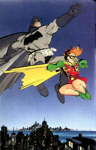 O velho Batman e Carrie Kelly: foco nela.
