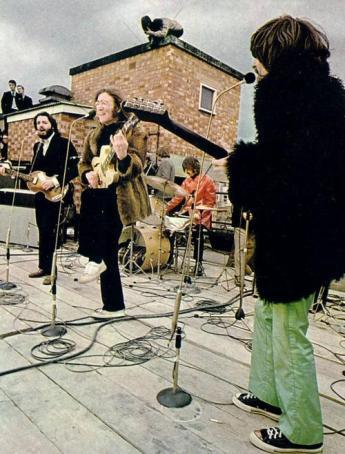 O show no telhado da Apple, em 30 de janeiro de 1969.