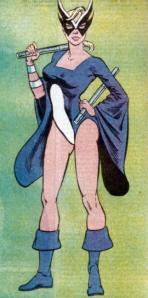 Harpia em seu velho uniforme dos anos 1980.