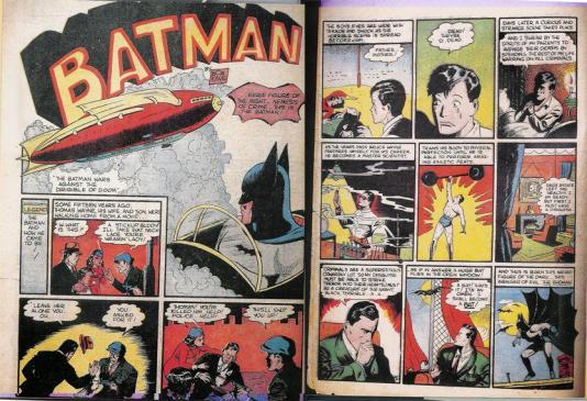 A origem do Batman é contada por Finger e Kane em