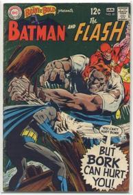 "Capa de ""The Brave and the Bold 81"": Batman e Flash unidos contra Bork numa clássica aventura."
