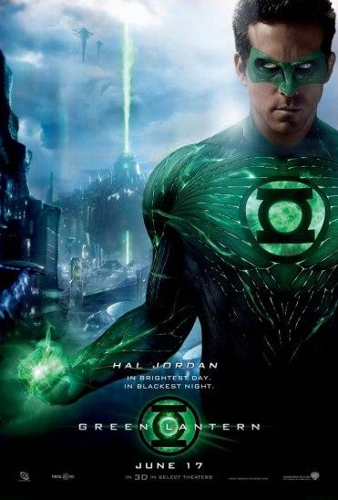 Ryan Reynolds como o Lanterna Verde.