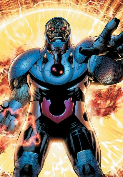 Darkseid, nos quadrinhos. Arte de Jim Lee.