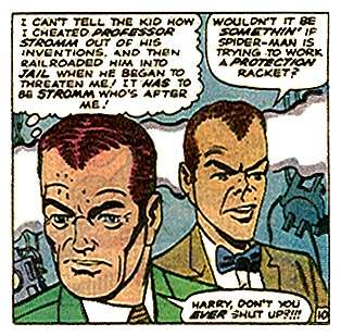 norman osborn and harry by steve ditko