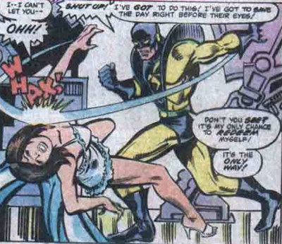 Yellow Jacquet bits Wasp by George Perez