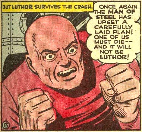 Lex Luthor se torna calvo sem explicações.