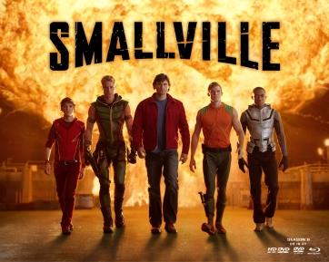 A  Liga da Justiça de Smallville, com Bart Allen à esquerda.