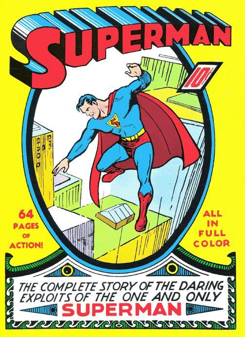 Superman 1 (original cover by joe shuster)