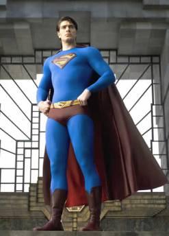 Brandon Routh como o Superman.