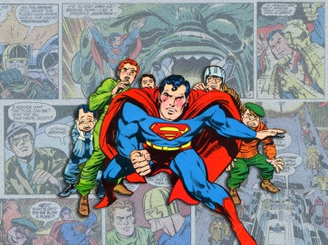 Superman na arte de Jack Kirby.