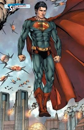 O Superman na bela arte de Shane Davis.