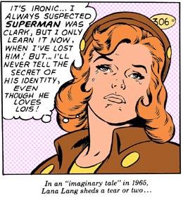 A Lana Lang ganhou mais destaque como namoradinha do Superboy.