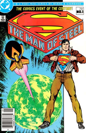 superman man of steel cover by john byrne 1986