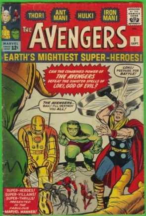 A estreia dos Vingadores, por Stan Lee e Jack Kirby.