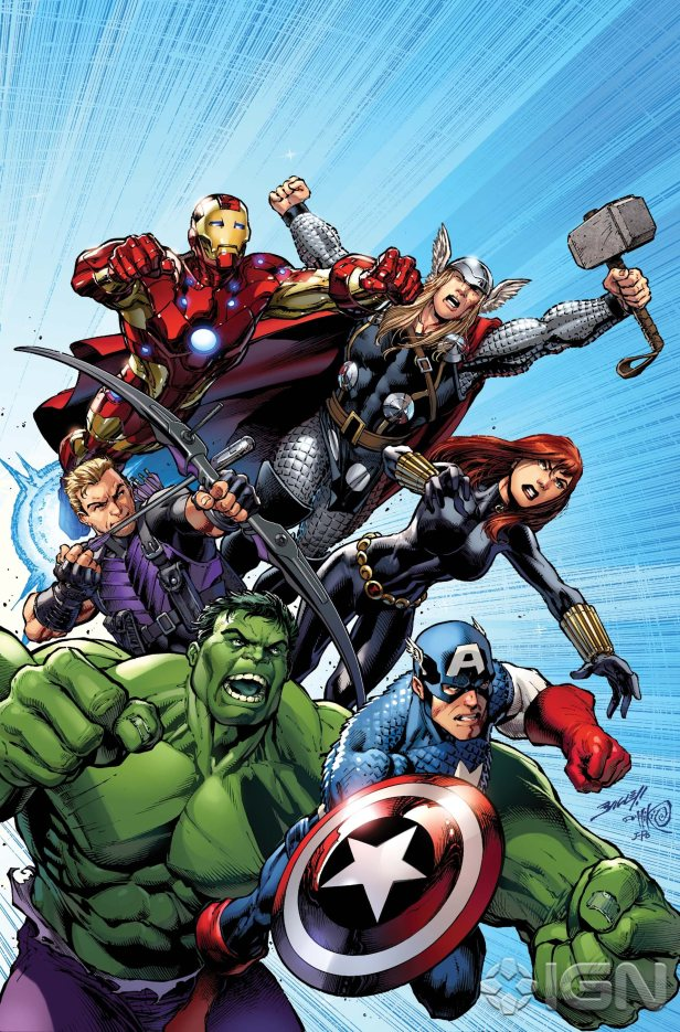 avengers assemble 01 cover by mark bagley
