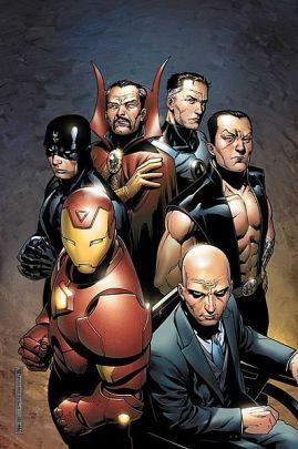 Os Illuminati: organização secreta mudando os rumos do Universo Marvel. Arte de Jim Cheung.