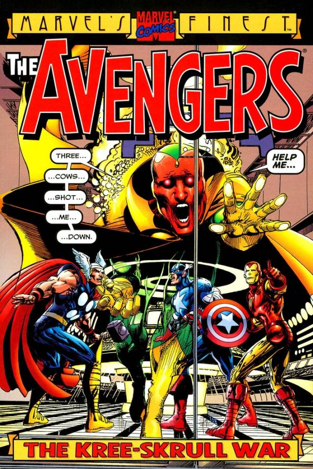 avengers in kree-skrull war by neal adams cover