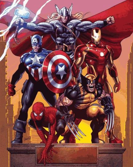 Os Vingadores em 2010, com o Homem-Aranha.