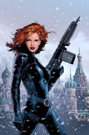 A Viúva Negra dos quadrinhos.