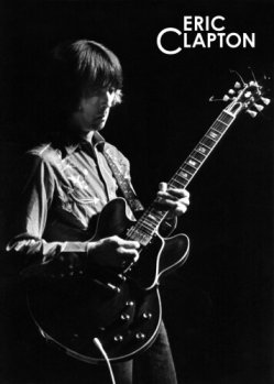 Eric Clapton em 1968, na banda Cream.