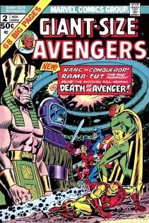 """Capa de """"Giant Size Avengers 02"""", de 1974, por Ron Wilson e John Romita."""