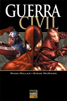 Homem-Aranha dividido na Guerra Civil original em quadrinhos.