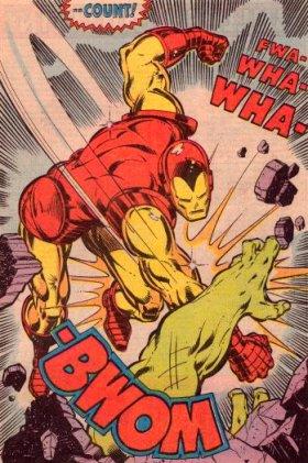 iron man battles hulk by john romita jr