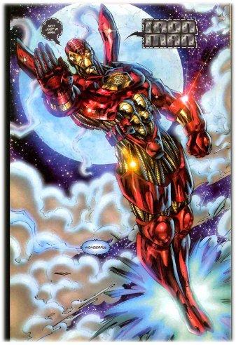 A horrenda armadura do Homem de Ferro de Heróis Renascem: Efeito Muscular.
