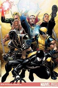 Os Novos Vingadores, com Luke Cage e Punho de Ferro.