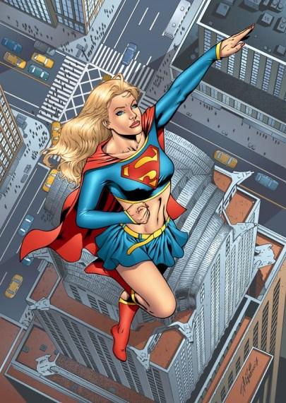 Supergirl no belo traço de Al Rio.