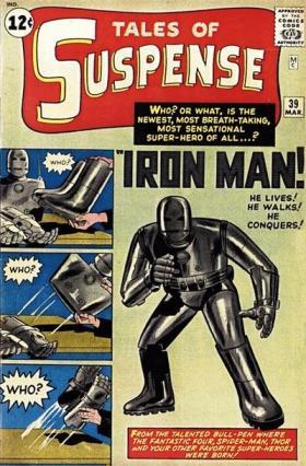 Capa de Tales of Suspense com a primeira aventura do Homem de Ferro.