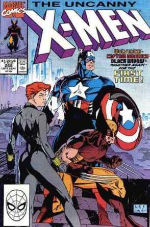 A histórica revista com Wolverine e Capitão América na arte de Jim Lee.