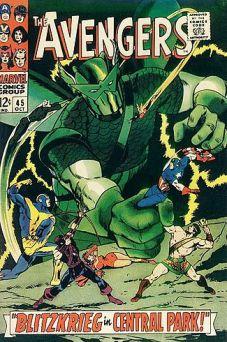 Contra o Super-Adaptóide. Repare em Hércules, à direita. Já com Thomas e Buscema.